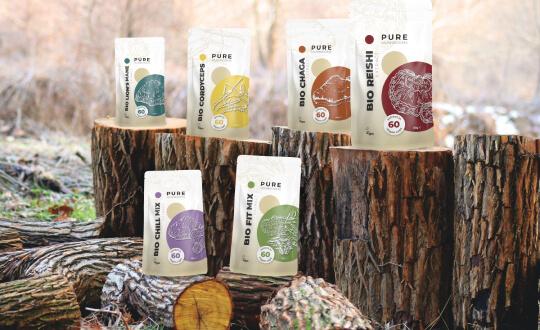 Pure Mushrooms paddenstoelsupplementen - puur, vegan en bio
